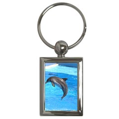 Jumping Dolphin Key Chain (rectangle)