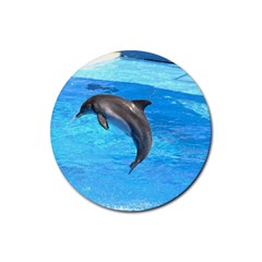 Jumping Dolphin Rubber Coaster (Round)