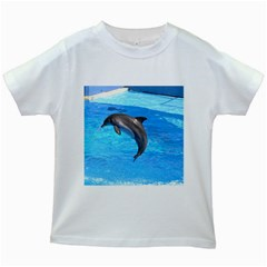 Jumping Dolphin Kids White T Shirt
