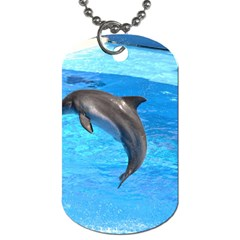 Jumping Dolphin Dog Tag (One Side)