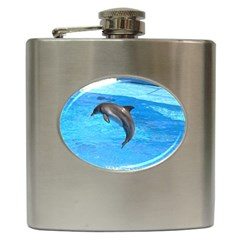 Jumping Dolphin Hip Flask (6 oz)