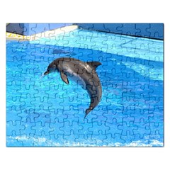 Jumping Dolphin Jigsaw Puzzle (Rectangular)