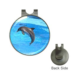 Jumping Dolphin Golf Ball Marker Hat Clip
