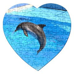 Jumping Dolphin Jigsaw Puzzle (Heart)