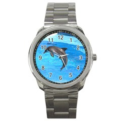 Jumping Dolphin Sport Metal Watch
