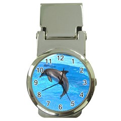 Jumping Dolphin Money Clip Watch