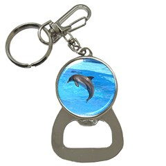 Jumping Dolphin Bottle Opener Key Chain