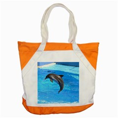 Jumping Dolphin Accent Tote Bag