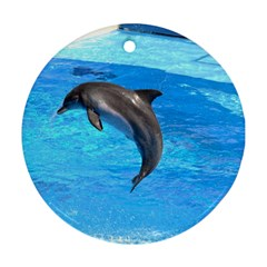 Jumping Dolphin Round Ornament (two Sides)