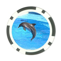Jumping Dolphin Poker Chip Card Guard