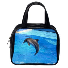 Jumping Dolphin Classic Handbag (one Side)