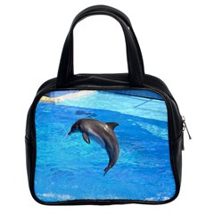 Jumping Dolphin Classic Handbag (two Sides)