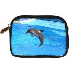 Jumping Dolphin Digital Camera Leather Case