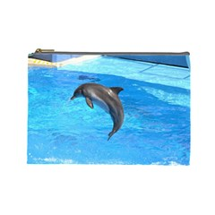 Jumping Dolphin Cosmetic Bag (Large)
