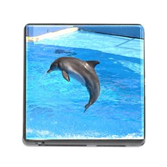 Jumping Dolphin Memory Card Reader with Storage (Square)