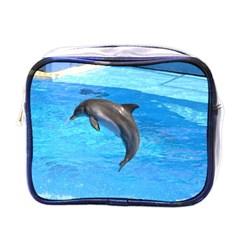 Jumping Dolphin Mini Toiletries Bag (one Side)