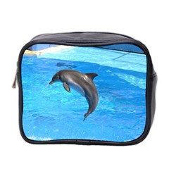 Jumping Dolphin Mini Toiletries Bag (Two Sides)