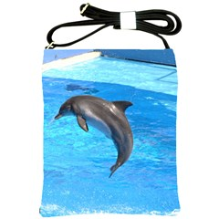 Jumping Dolphin Shoulder Sling Bag