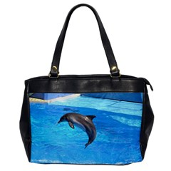 Jumping Dolphin Oversize Office Handbag (One Side)