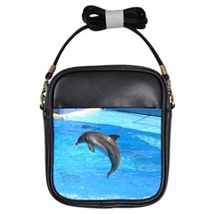 Jumping Dolphin Girls Sling Bag