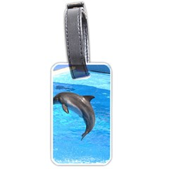 Jumping Dolphin Luggage Tag (one side)