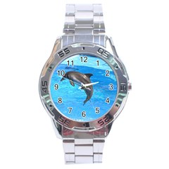 Jumping Dolphin Stainless Steel Analogue Men's Watch
