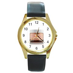 300x322 6240 Product Round Gold Metal Watch