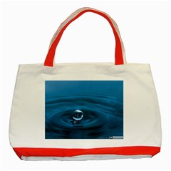 Water Drop Classic Tote Bag (Red)