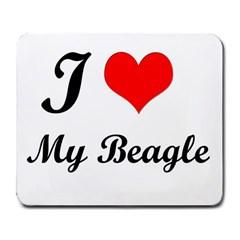 I Love My Beagle Large Mousepad
