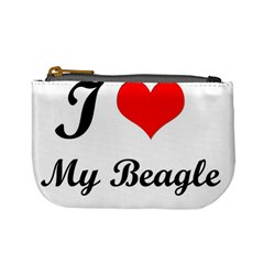 I Love My Beagle Mini Coin Purse