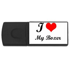 I Love My Beagle USB Flash Drive Rectangular (4 GB)