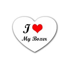 I Love My Beagle Heart Coaster (4 Pack)