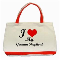 I Love My Beagle Classic Tote Bag (Red)