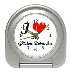 I Love My Beagle Travel Alarm Clock