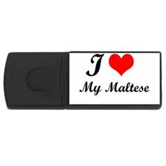 I Love My Beagle USB Flash Drive Rectangular (4 GB)