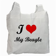 I Love My Beagle Recycle Bag (One Side)