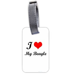 I Love My Beagle Luggage Tag (one side)