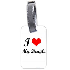 I Love My Beagle Luggage Tag (two Sides)