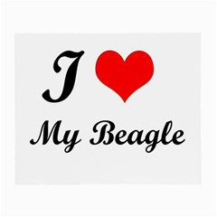 I Love My Beagle Glasses Cloth (Small, Two Sides)
