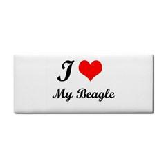 I Love My Beagle Hand Towel