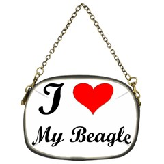 I Love My Beagle Chain Purse (One Side)