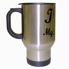 I Love My Beagle Travel Mug (silver Gray)
