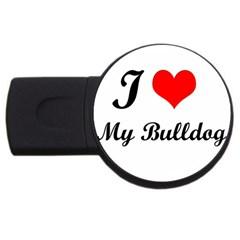 I Love My Beagle USB Flash Drive Round (1 GB)