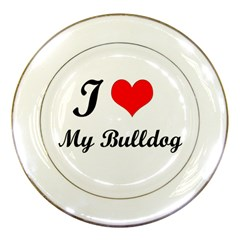 I Love My Beagle Porcelain Plate