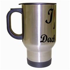 I Love My Beagle Travel Mug (Silver Gray)