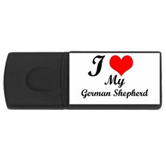 I Love My Beagle USB Flash Drive Rectangular (2 GB)