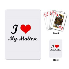 I Love My Beagle Playing Cards Single Design