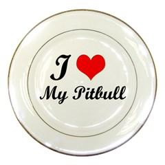 I Love My Beagle Porcelain Plate