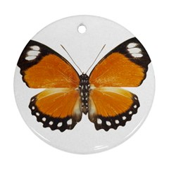 Butterfly Insect Ceramic Ornament (Round)