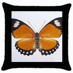 Butterfly Insect Black Throw Pillow Case